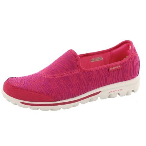 skechers go walk upstage slip on walking shoes