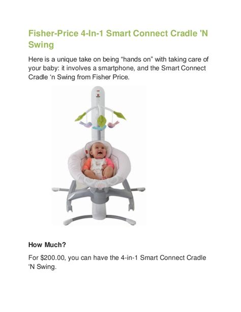 4 in 1 swing fisher price 4 in 1 smart connect cradle n swing