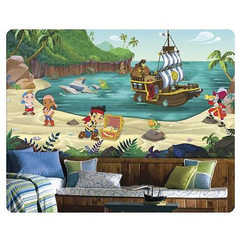 pirate wall murals jake and the never land wall mural
