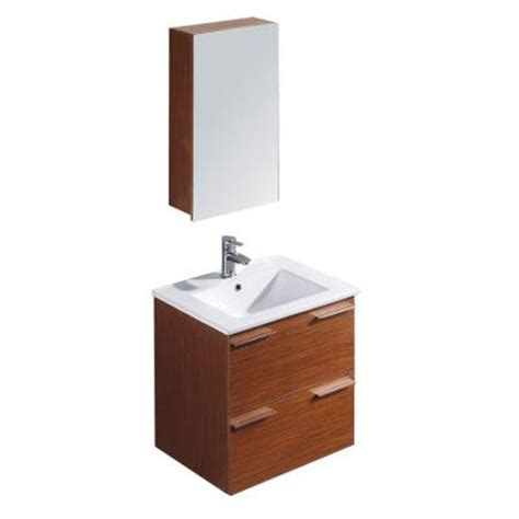 Ophelia Vanity by Vigo Ophelia 24 In Vanity In Wenge With Porcelain Vanity Top In White And Medicine Cabinet