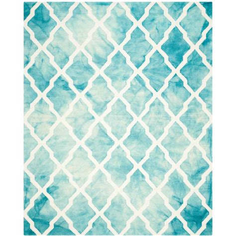 Turquoise Area Rug Safavieh Dip Dye Turquoise Ivory 8 Ft X 10 Ft Area Rug Ddy540d 8 The Home Depot