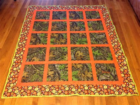 Window Pane Quilt by Crafted Custom Camo Outdoor Window Pane Style Scenic