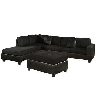 Sears Sectional Sofas Dallin Sectional Sofa And Ottoman Black Left Side Chaise At Sears