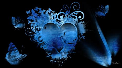 wallpaper blue heart pictures blue hearts background wallpaper