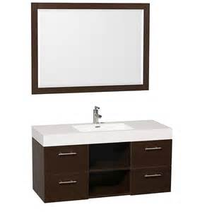 Floating bathroom vanities on pinterest floating wall vessel sink