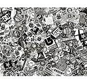 Sticker Bomb Comic Film With Real Logos 152x30 Cm Black