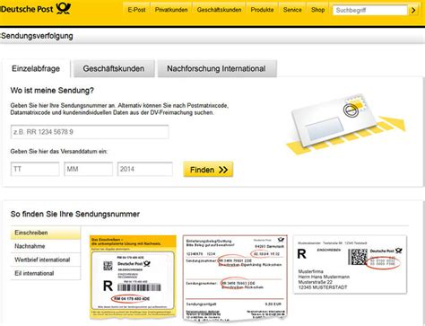 Deutsche Post Brief Beispiel Deutsche Post Briefstatus Verfolgen Tracking Support