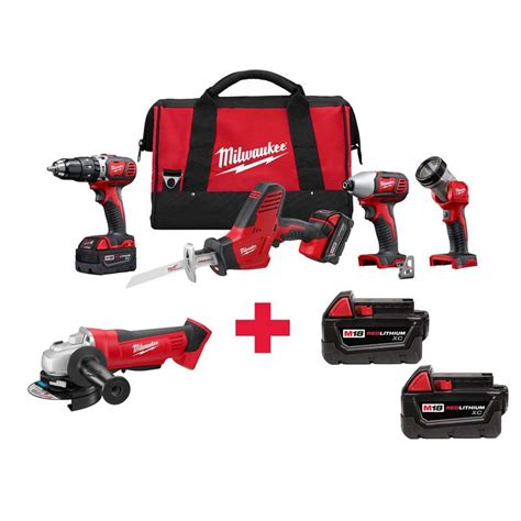 milwaukee m18 18 volt lithium ion cordless combo kit 4