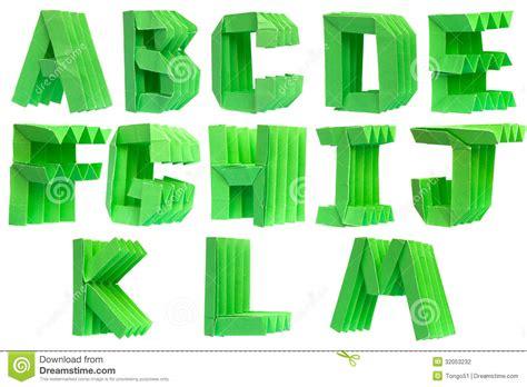 Alphabet Origami - alphabet origami stock photography image 32053232