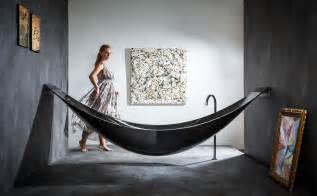 Bath Hammock the of relaxation bathtub and hammock combined by splinter works freshome