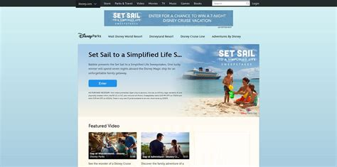 Set For Life Sweepstakes - disney set sail to a simplified life sweepstakes