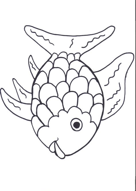 fish coloring pages for kindergarten rainbow fish printables august preschool themes child