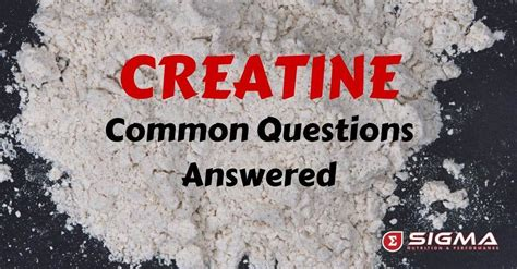creatine questions creatine common questions answered sigma nutrition