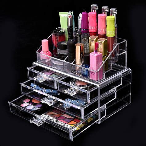 Tempat Kosmetik Lipstick Shelf Acrylic acrylic makeup cosmetic organizer 4 drawers jewelry storage display holder box makeup tools