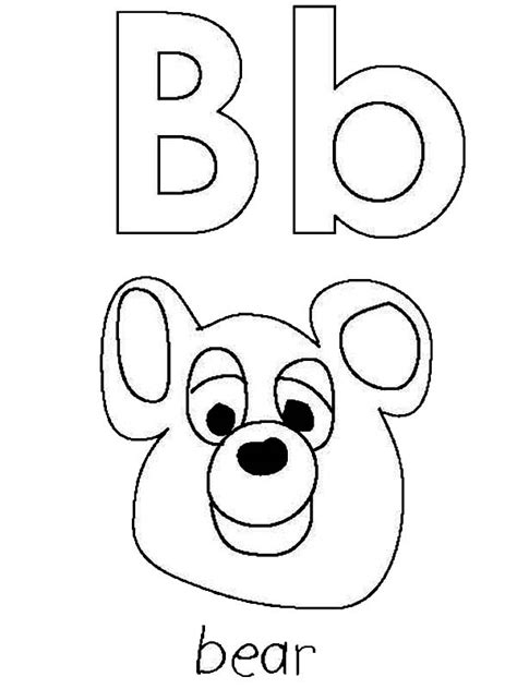 b bear coloring page bear coloring pages for kids gtgt disney coloring pages
