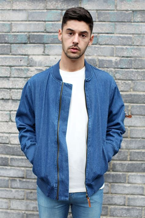 Jaket Bomber Rocafela 2 In 1 denim bomber jacket blue by the whitepepper http www thewhitepepper collections