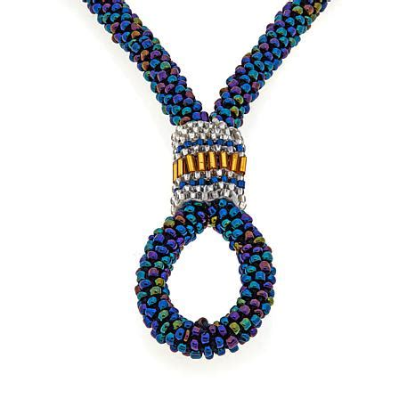 Necklaces For Women Beaded Necklaces Jewelry Hsn | himalayan gems 2 in 1 potay beaded 26 quot necklace 8236312