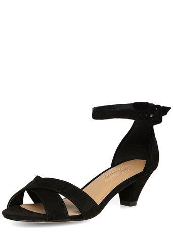 black peg heel strappy sandals low mid heels heels