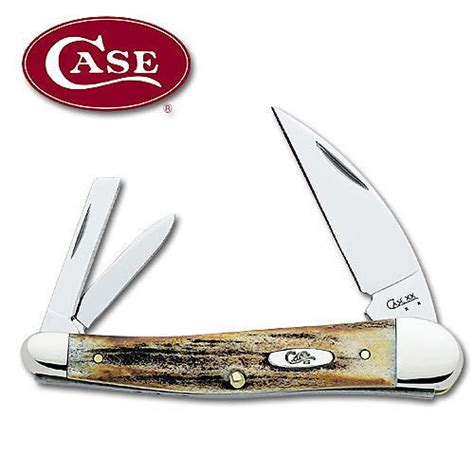 seahorse whittler stag seahorse whittler folding knife kennesaw cutlery