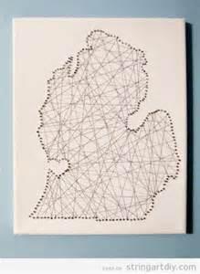 Diy String Map - map string on canvas string diy free patterns