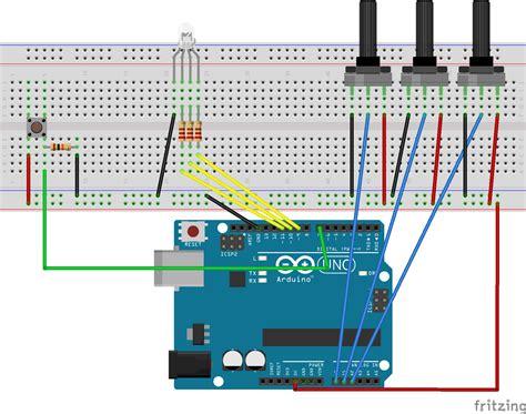 arduino rgb color mixer hackster io