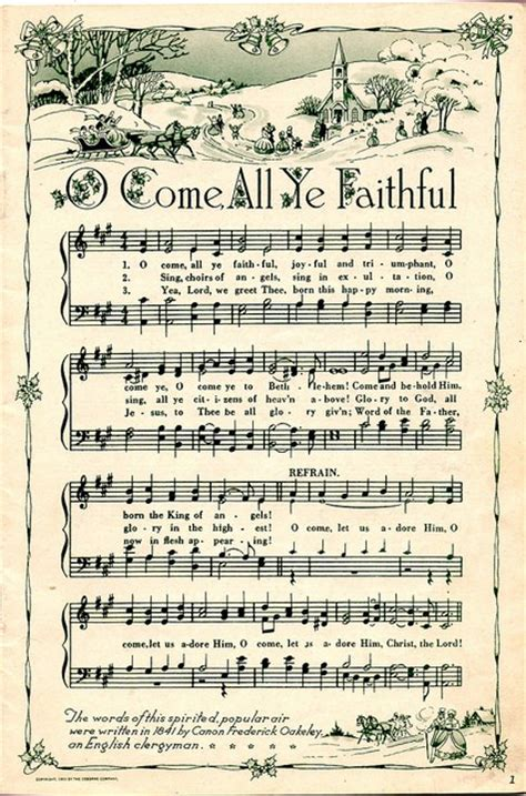 printable christmas carols printable vintage christmas music sheets and 6 holiday
