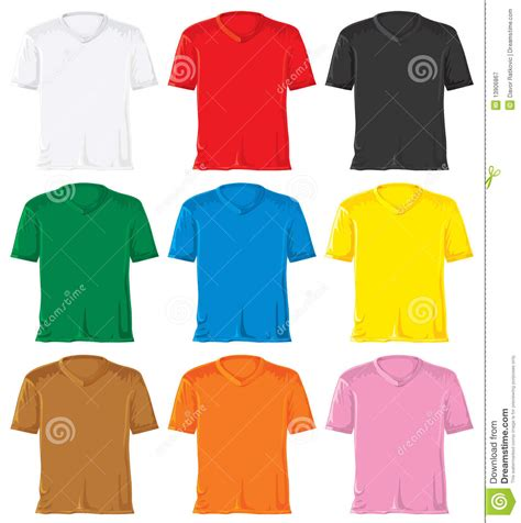 t shirt set with triangle collar stock illustration