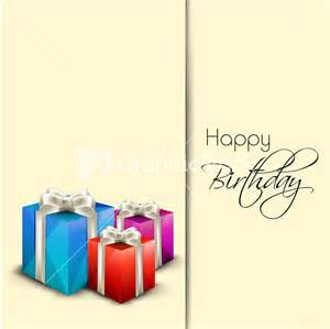 happy birthday greeting card or invitation card with