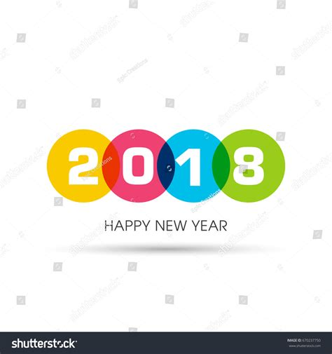 happy new year 2018 text happy new year 2018 text design stock vector 670237750