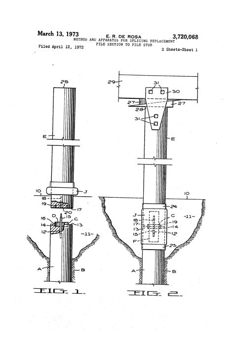 pile section patent us3720068 method and apparatus for splicing