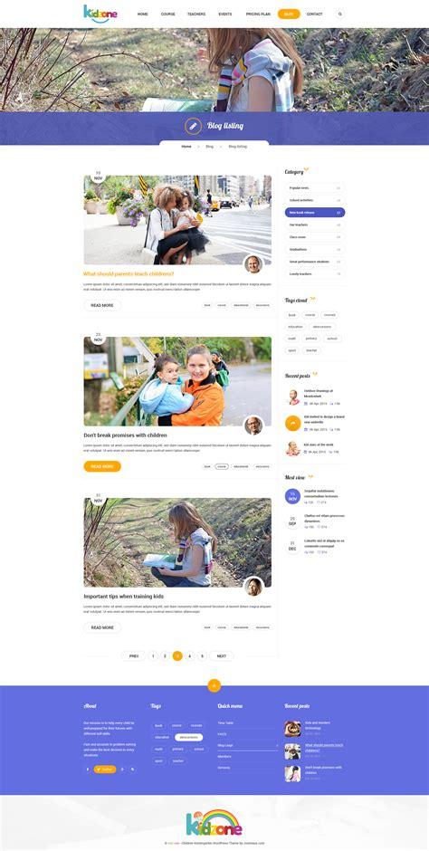 themeforest blog listing kidzone children kindergarten wordpress theme by