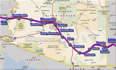 arizona highway conditions map i 10 arizona traffic maps