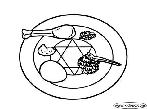 free coloring pages of seder plate for passover