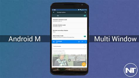 multi window android enable multi window on android marshmallow and use two apps with without root naldotech