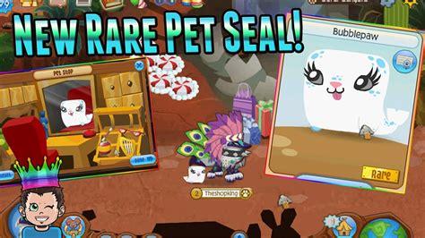 exclusive animal jam  pet seal rare promo pet youtube