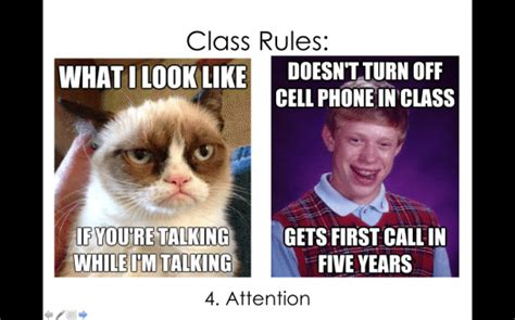 Class Rules Memes - first day of school activity and meme powerpoint to go