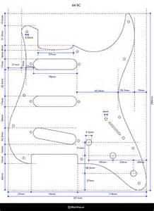 64 stratocaster pickguard template