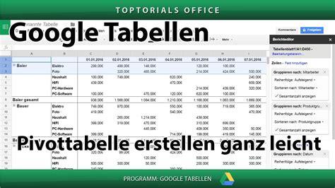 tabelle erstellen pivot tabelle erstellen ganz leicht tabellen