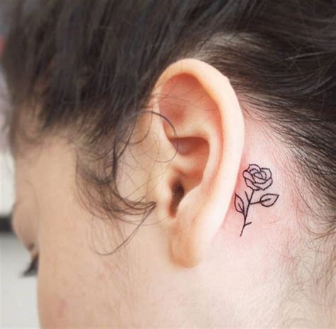 rose behind ear tattoo 40 amazing the ear tattoos for tattooblend