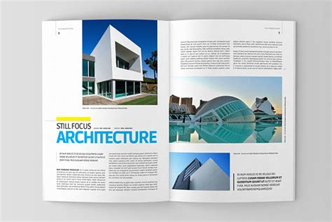 architectural design templates architecture magazine template on behance