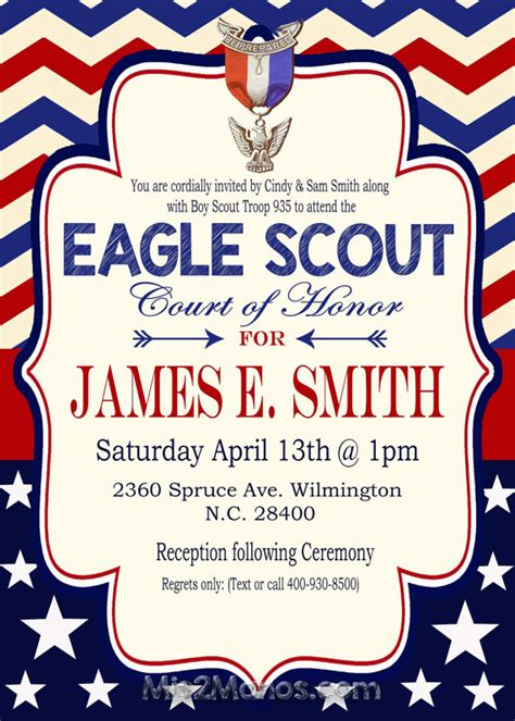 eagle scout invitation template eagle scout invitation court of honor invitation boy scout