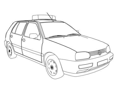 volkswagen car coloring page car vw golf polizei police car coloring page volkswagen