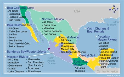 map of mexico vacation spots mexico vacation spots pictures to pin on pinsdaddy