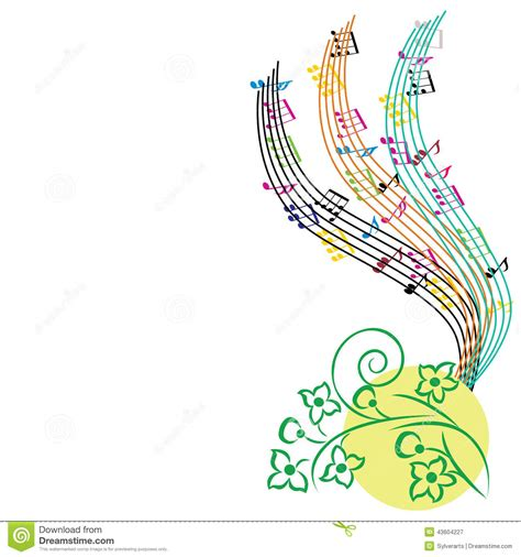 music themed music notes background musical theme composition stock