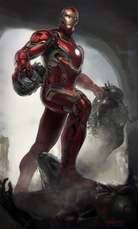 unused iron man mark armor concept art marvels