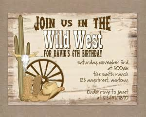 western party invitations printable