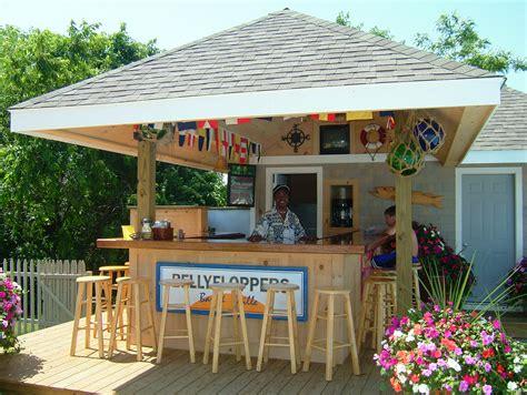 patio backyard tiki ideas outdoor bar decor