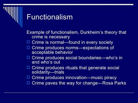 Sectional Conflict Definition by Functionalism