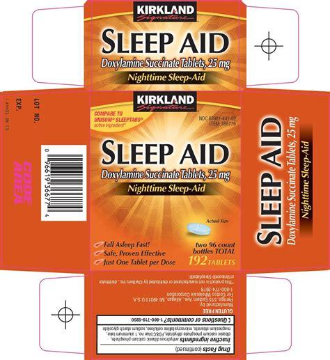 sleep aid kirkland signature sleep aid costco wholesale company