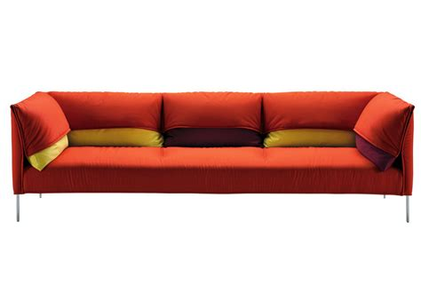 sofa with removable cover undercover by zanotta design